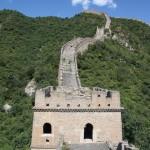 Steile Mauerpassage bevor