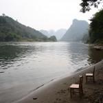 der Li-Fluss, an dem untertags tausende von großen Schiffen die Touristen nach Yangshuo bringen