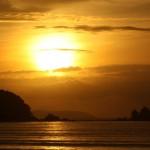 der erste richtige Sonnenuntergang