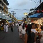 Die gesamte Straße war voll mit verlockenden Essensständen