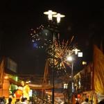 die Feuerwerke vor der Parade