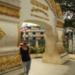 Rina in der nörlichsten Stadt Thailands