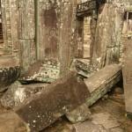 Trümmer im Bayon des Angkor Thom