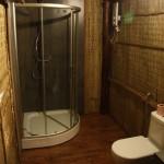 unsere erste Duschkabine