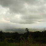 Blick herab auf Kampot  Schlechtwetter naht