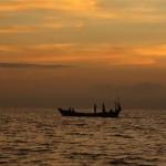 Fischer fahren raus aufs Meer
