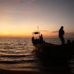 Boot beim Anlegen