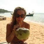erfrischende Kokosnuss