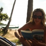 Rina fleißig am lesen