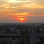 Sonnenuntergang über Phnom Penh