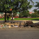 Müll am Straßenrand