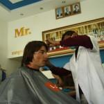 Thilo beim Frisör