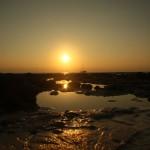 Sunset am westlichen Ende des Beach No. 1